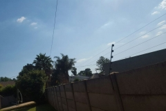 electrical installations fence are situated in Marie street New Estates Springs004